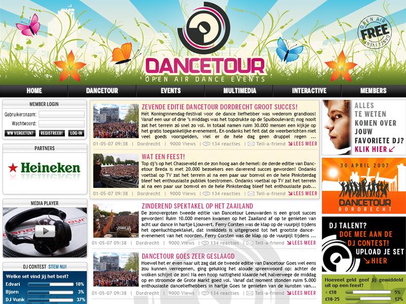 Dancetour Communitysite