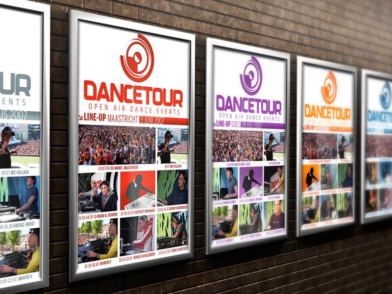 Dancetour Reclameposter