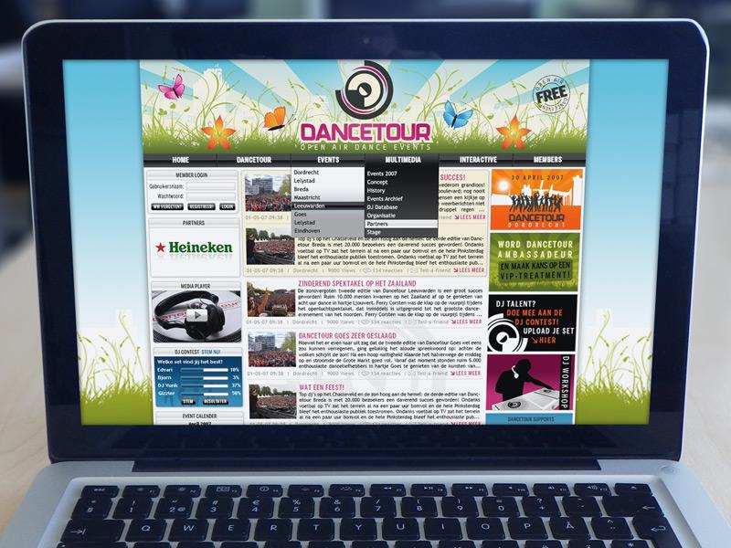 Dancetour Website