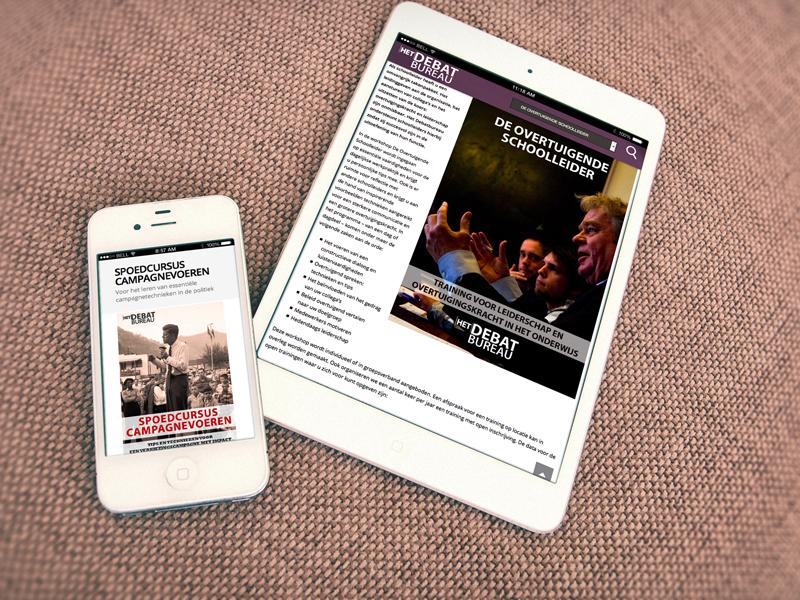 Debatbureau Mobiele Website