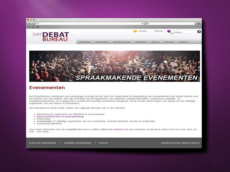Debatbureau Responsive Website
