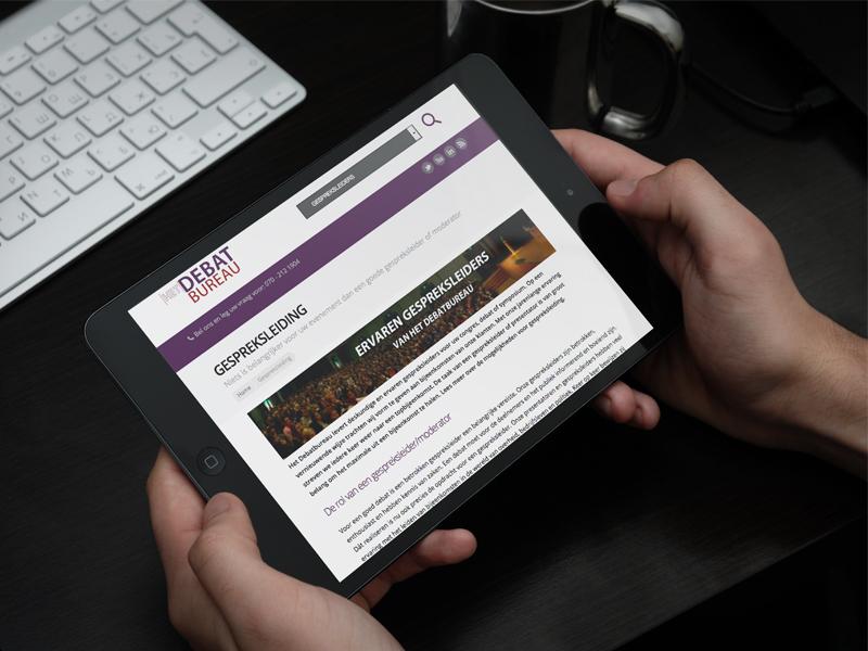 Debatbureau Website iPad