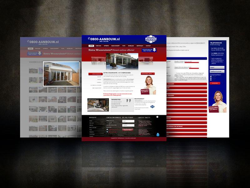 Hoekbouw 0800-aanbouw Responsive Webdesign