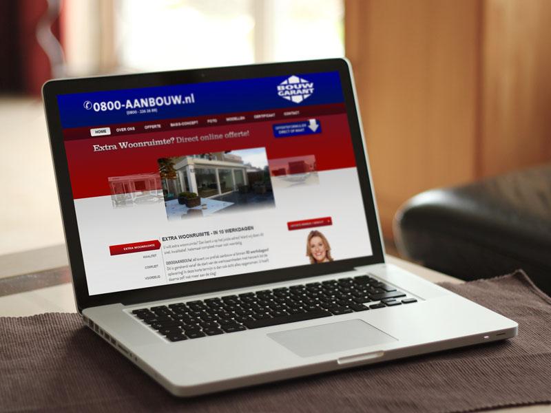 Hoekbouw 0800-aanbouw Website