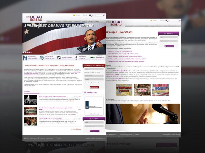 Het Debat Bureau Responsive Website