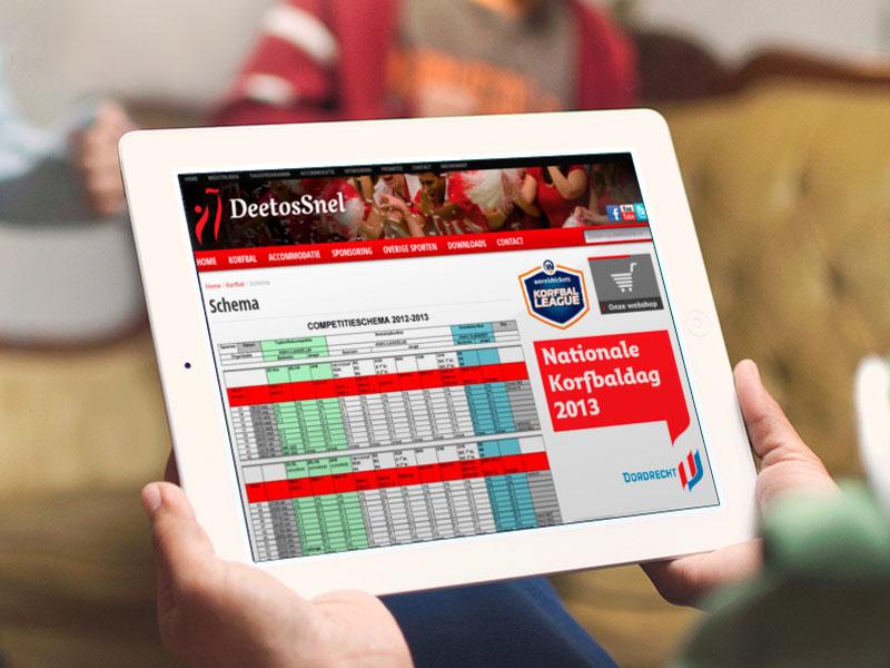 DeetosSnel Website Tablet