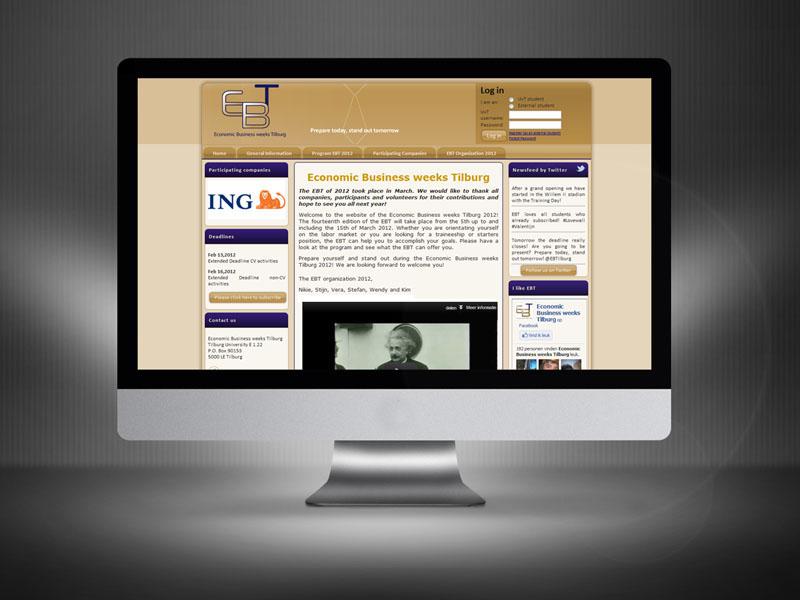 Tilburg University Economische Bedrijvenweek Desktop Website