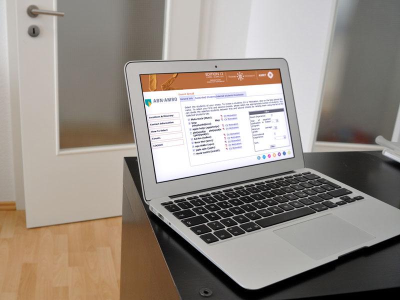 Tilburg University Economische Bedrijvenweek Responsive Webdesign