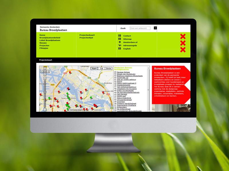 Gemeente Amsterdam Bureau Broedplaatsen Responsive Webdesign