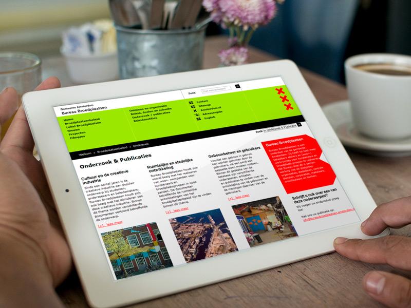 Gemeente Amsterdam Bureau Broedplaatsen Responsive Website