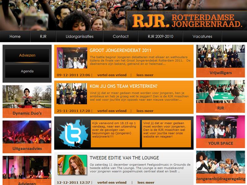 Rotterdamse Jongerenraad Website