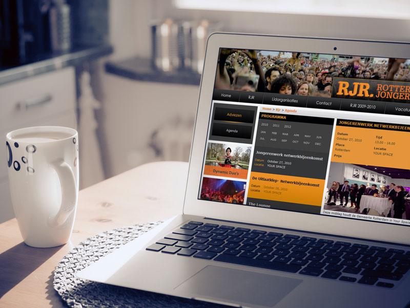 Rotterdamse Jongerenraad Responsive Website