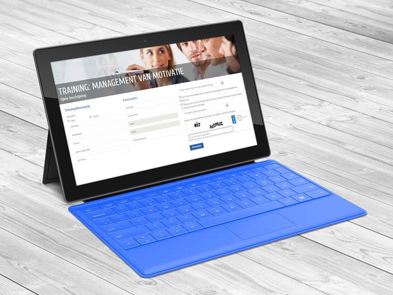 Motivus Tablet Website