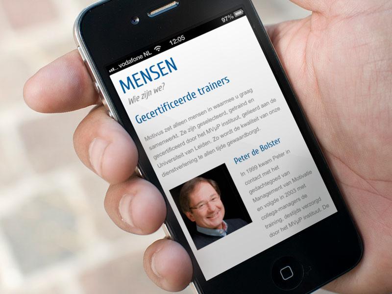 Motivus iPhone Website