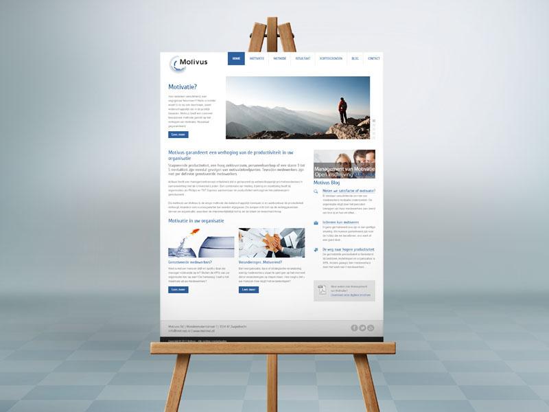 Motivus Website Ontwerp