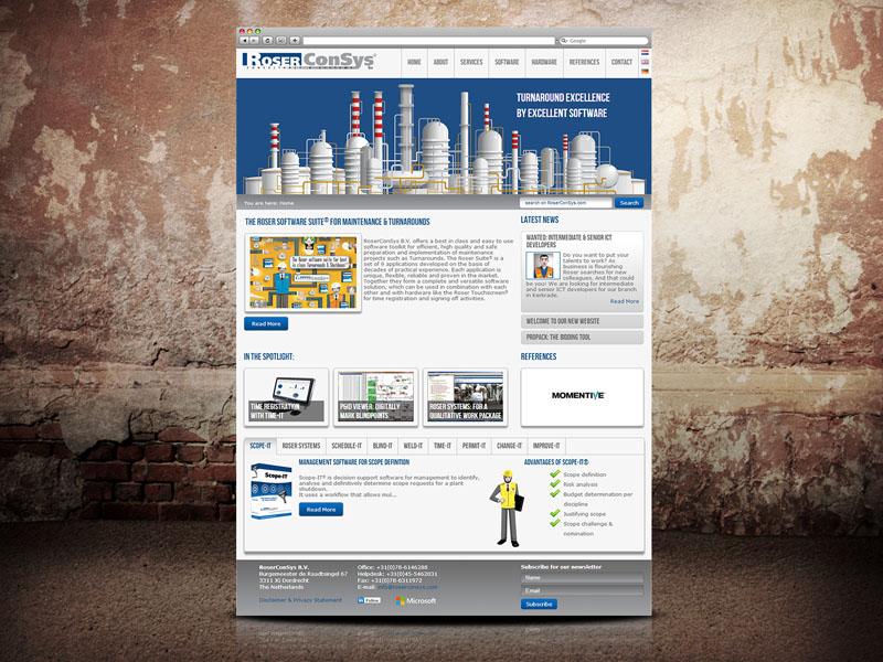 Roserconsys Website Ontwerp