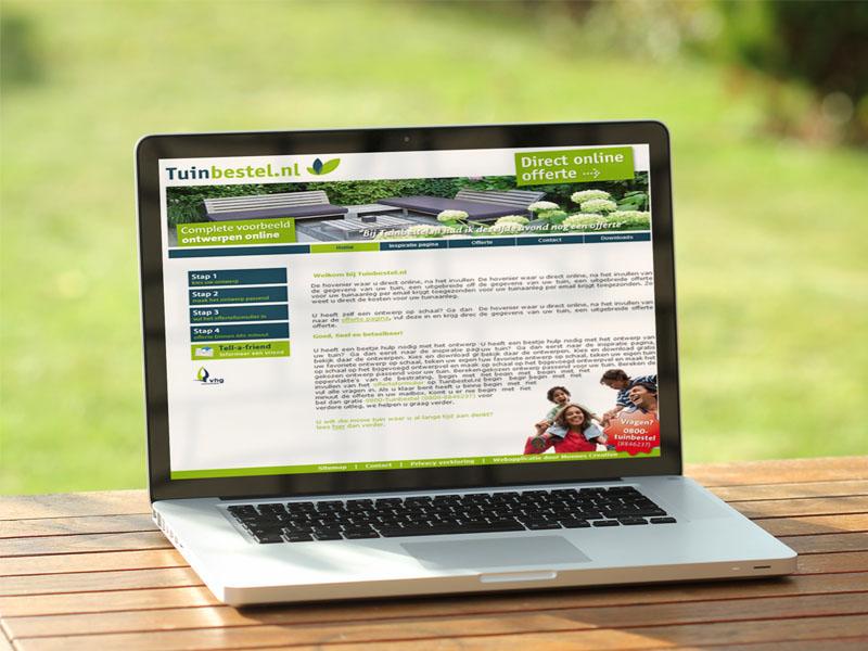 Tuinbestel.nl Website Laptop