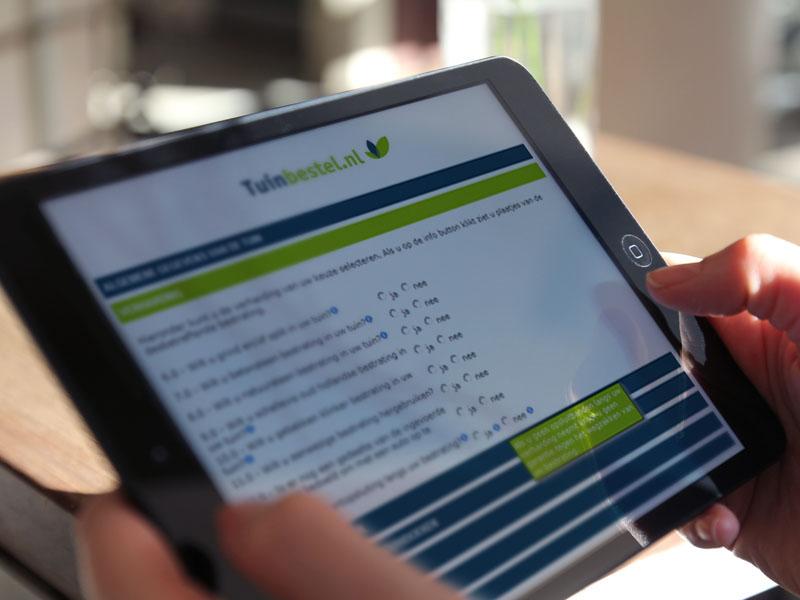 Tuinbestel.nl Mobiele Website