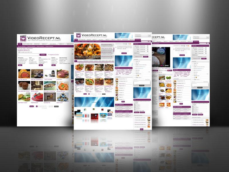 VideoRecept Responsive Webdesign