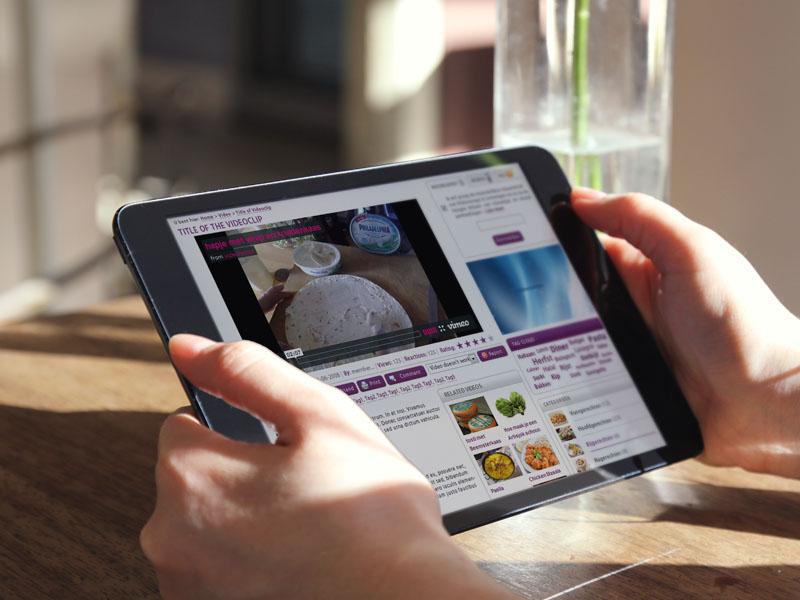 VideoRecept Mobielvriendelijke Website