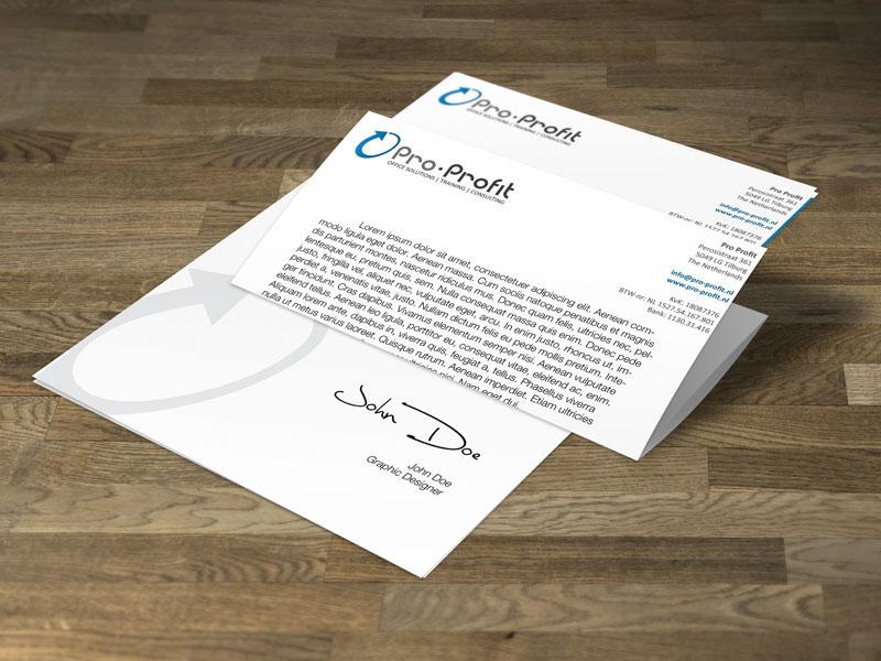 Pro-Profit Briefpapier Ontwerp