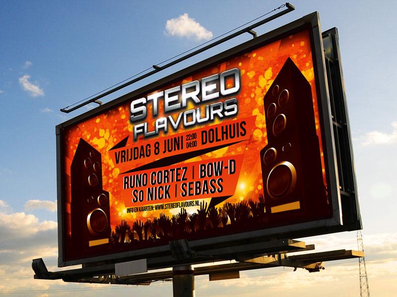 Stereo Flavours Billboard Ontwerp