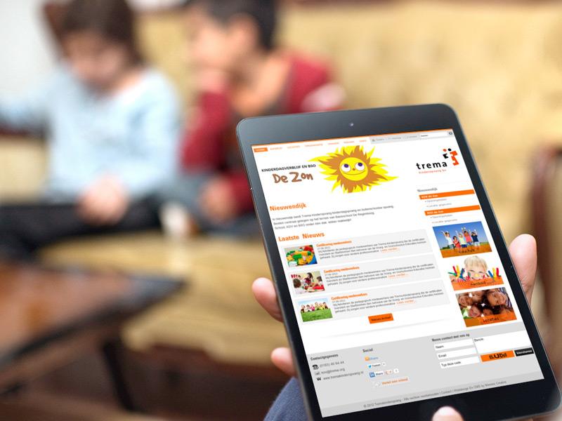 Trema Kinderopvang Mobielvriendelijke Website
