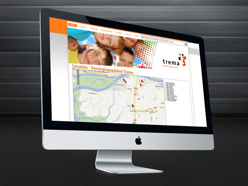 Trema Kinderopvang Responsive Website