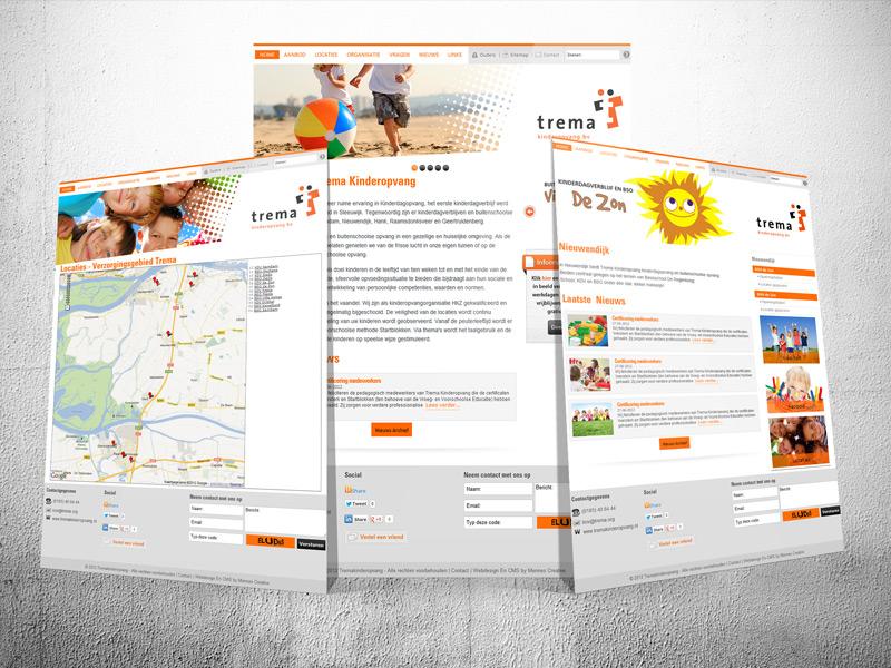 Trema Kinderopvang Website Design